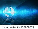 digitally generated global... | Shutterstock . vector #192860099