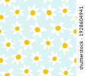 daisy seamless pattern. cute...   Shutterstock .eps vector #1928604941