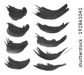 smears black gouache paint  | Shutterstock .eps vector #192861041