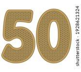 golden number fifty vector...   Shutterstock .eps vector #1928621324