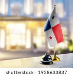 panama flag on the reception... | Shutterstock . vector #1928633837