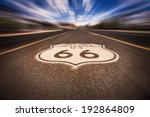 historic route 66 sign on road  | Shutterstock . vector #192864809