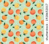 summer seamless pattern with... | Shutterstock . vector #1928652017