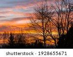 Colorful Red  Orange Sunrise...
