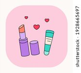Cartoon Lipstick Icon. Lovely...