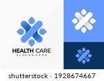health care logo vector design. ... | Shutterstock .eps vector #1928674667