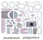 scribble frames  lines and dots ...   Shutterstock .eps vector #1928679917