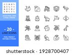 line icons about wild animals.... | Shutterstock .eps vector #1928700407