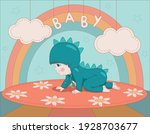 baby in a dragon costume crawls ...   Shutterstock .eps vector #1928703677