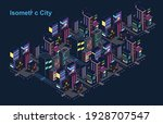isometric city vector.smart... | Shutterstock .eps vector #1928707547