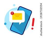 receive message notifications... | Shutterstock .eps vector #1928733554