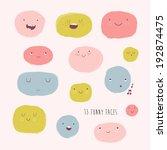 cute  vector set in cartoon... | Shutterstock .eps vector #192874475