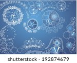 vector blueprint of landscape... | Shutterstock .eps vector #192874679
