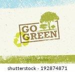go green eco tree organic... | Shutterstock .eps vector #192874871
