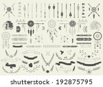 arrows  ribbons  indian... | Shutterstock .eps vector #192875795