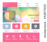 flat colorful website template... | Shutterstock .eps vector #192877025