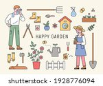 man and woman characters doing... | Shutterstock .eps vector #1928776094