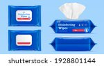3d mock up for wet wipes pouch... | Shutterstock .eps vector #1928801144