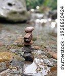 Rock Balancing In The Falls