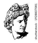 ancient greek sculpture hand... | Shutterstock .eps vector #1928837081