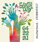 earth day retro design of...   Shutterstock .eps vector #1928845517