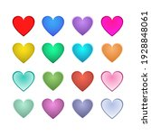 heart set of 16 with different...   Shutterstock .eps vector #1928848061