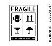 fragile sticker vector....   Shutterstock .eps vector #1928848067