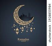 modern mandala background for... | Shutterstock .eps vector #1928855984