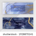 blue alcohol ink with gold...   Shutterstock .eps vector #1928870141