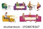 set of illustrations on the... | Shutterstock .eps vector #1928878367