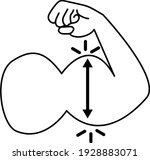 increase hand muscle icon on... | Shutterstock .eps vector #1928883071