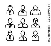 employee icon or logo isolated... | Shutterstock .eps vector #1928899364