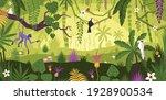 jungle landscape flat...   Shutterstock .eps vector #1928900534