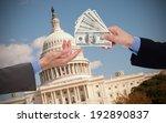 giving a bribe  hands of... | Shutterstock . vector #192890837