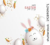 happy easter holiday card. cute ... | Shutterstock .eps vector #1928909471