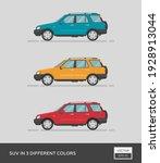 urban vehicle. suv in 3... | Shutterstock .eps vector #1928913044