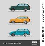 urban vehicle. suv in 3... | Shutterstock .eps vector #1928913047