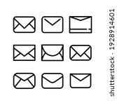 envelope icon or logo isolated... | Shutterstock .eps vector #1928914601