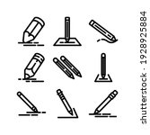 pencil icon or logo isolated...   Shutterstock .eps vector #1928925884