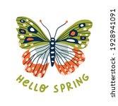 decorative butterfly vector... | Shutterstock .eps vector #1928941091
