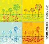 four seasons 2 background... | Shutterstock . vector #19289419
