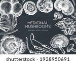 medicinal mushroom design on a... | Shutterstock .eps vector #1928950691
