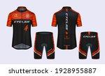 cycling jerseys mockup t shirt...   Shutterstock .eps vector #1928955887