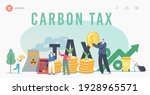 green co2 taxes landing page... | Shutterstock .eps vector #1928965571