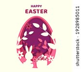 happy easter greeting card with ...   Shutterstock .eps vector #1928985011