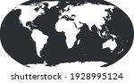 world map in robinson... | Shutterstock .eps vector #1928995124