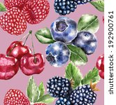 seamless pattern with berry  | Shutterstock . vector #192900761