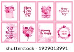 happy mother's day greeting... | Shutterstock .eps vector #1929013991