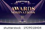 award nominations cartoon... | Shutterstock .eps vector #1929018404