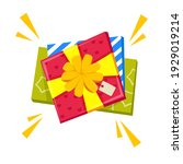 gift boxes or presents.... | Shutterstock .eps vector #1929019214
